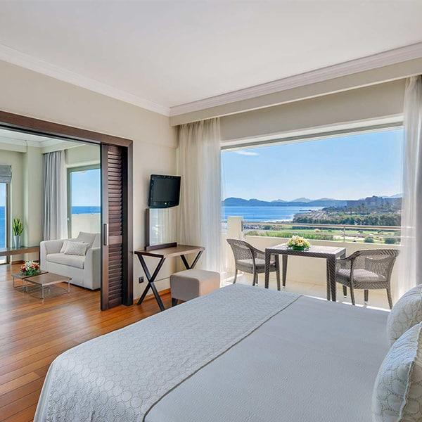Chambre à l'hotel Elysium à Faliraki pour les vacances cacher de pessah 2018